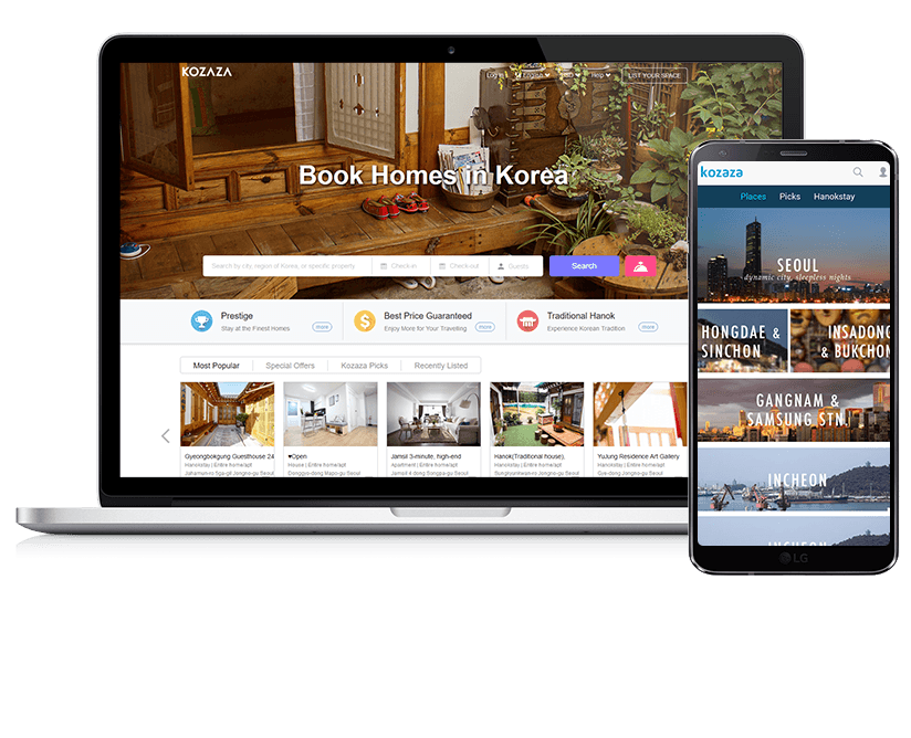 Kozaza Travel, Vacation Rental/Booking App