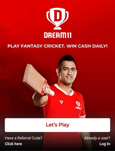 Dream11 Home Screen