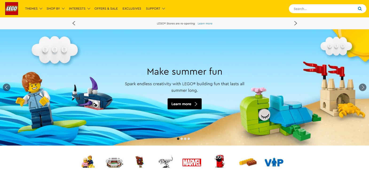 lego website